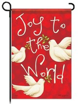 Joy to the World Garden Flag, Doves