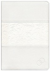Biblia devocional: Los lenguajes del amor RVR60 - Duotono blanco/RVR 1960 Love Languages Devotional Bible--soft leather-look, white