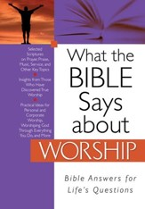 What the Bible Says about Worship - eBook