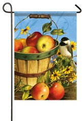 Chickadees and Apples Flag, Small