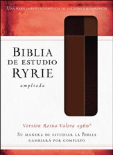Biblia de estudio Ryrie ampliada RVR 1960, Marrón con Índice (The Ryrie Study Bible, Brown Duo-tone with Index)