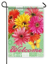 Welcome, Gerbera Garden Flag, Small