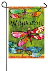 Welcome, Dragonfly Friends Flag, Small