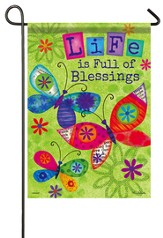 Life Is Full Of Blessings, Butterfly Blessings Flag, Small