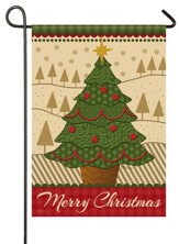 Merry Christmas Tree Flag, Small