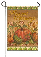 Harvest Blessings, Pumpkins Flag, Small