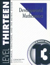Developmental Math, Level 13, Student Workbook