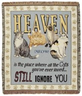 Cats In Heaven Throw