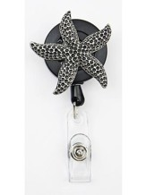 Starfish, Pewter Badge Holder