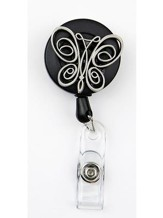 Butterfly, Pewter Badge Holder
