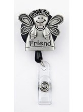Friend Angel, Pewter Badge Holder