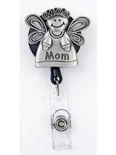 Mom Angel, Pewter Badge Holder