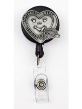Heart, Mothers Give Their Love, Pewter Badge Holder