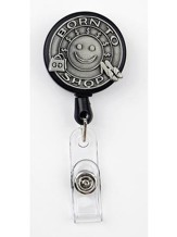 Born to Shop, Pewter Badge Holder