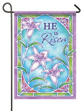 He Is Risen (stained glass), Small Flag