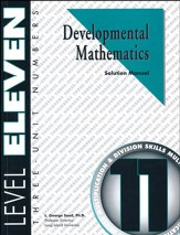 Developmental Math, Level 11,  Solution Manual