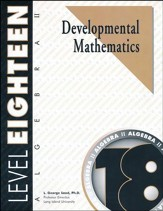 Developmental Math Level 18, Algebra  II