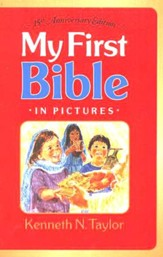 My First Bible in Pictures--hardcover, red