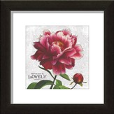 Whatever Is Lovely, Floral Framed Art, Philippians 4:8