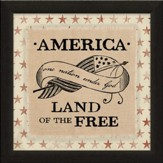 One Nation Under God, Land of the Free, Canvas Framed Art