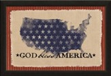 God Bless America, Canvas Framed Art