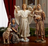 Real Life Nativity, 3 Piece Shepherds and Angel, 10.25