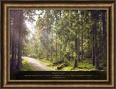 Show Me the Path Where I Should Walk, Psalm 25:4-5, Framed Art
