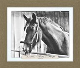 In Quietness and Trust is Your Strength, Isaiah 20:15, Horse Farm, Framed Art