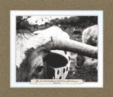 You Have the Strength of a Bull, Psalm 92:10, Farm, Framed Art
