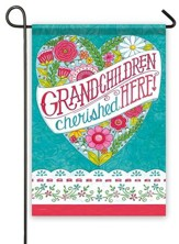 Grandchildren Cherished Here Flag, Small