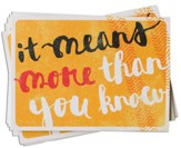 More Than You Know--Thank-You Notes