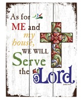 As For Me and My House, We Will Serve the Lord, Pallet Sign