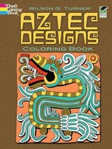 Aztec Designs Coloring Book, Green Edition