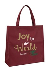 Joy to the World, Luke 2:10, Tote Bag