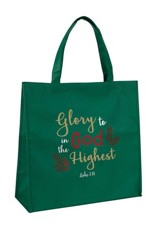 Glory to God in the Highest, Luke 2:14, Tote Bag
