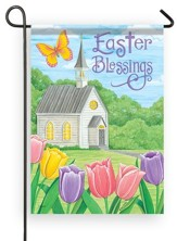 Easter Blessings, Church, Flag, Small