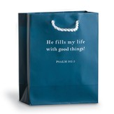 He Fills My Life Gift Bag, Blue, Small