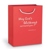 May God's Blessings Gift Bag, Red, Small