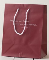 May God Our Father Gift Bag, Maroon, Medium