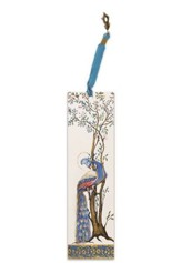 Illuminated Bookmark Esther Scroll-Peacock