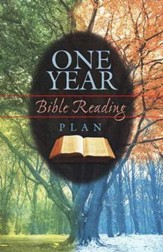 One Year Bible Reading Plan, Pack of 25 Tracts