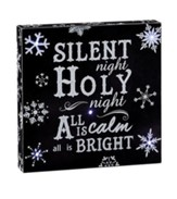 Silent Night, LED Wall Art