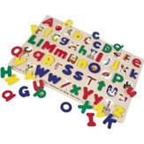 Upper- and Lowercase Alphabet Wooden Puzzle