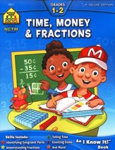 Time, Money & Fractions, Grades 1-2