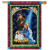 Mosaic Nativity Flag, Large