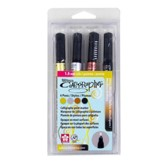 Pen-Touch Calligrapher 1.8MM, Set of 4, Assorted Colors