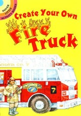 Create Your Own Fire Truck Sticker Activity Book