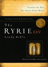 ESV Ryrie Study Bible, Hardback - Slightly Imperfect