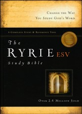 ESV Ryrie Study Bible, Hardback, Thumb-Indexed