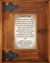 Pastor Framed Art